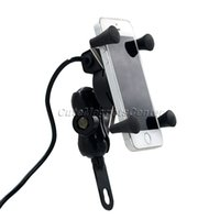 Wholesale Gps For Motorbikes - Wholesale- car 12V Universal Motorcycle MTB Motorbike Bike Handlebar Mount Stand Holder For Cell Phone Ipod GPS with Rotating USB Charging