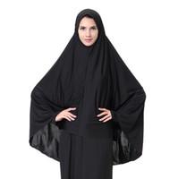 moslems hijab schal freies verschiffen großhandel-Großhandelsschals, islamisches arabisches langes hijab der Damen, schwarzes hijabs, freies Verschiffen