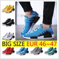 Wholesale New Style Shoes For Mens - New Style HOTSALE NMD HUMAN RACE mens Running Shoes for men Sports shoes sneakers Mesh Breather Summer Pharrell Williams X NMD Size 36-47