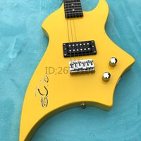 Wholesale Maple Neck Yellow - Hot!!! Free delivery, yellow monster, electric guitar, Paulownia body, maple neck, children can use, accept custom