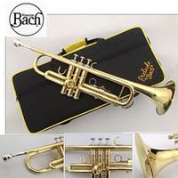 trompet enstrümanı toptan satış-BACH Trompet altın ve gümüş kaplama TR-600 küçük Müzik aletleri profesyonel Trompet