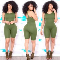 Wholesale Tight Fitted Jumpsuits - 2017 summer womens sports jumpsuits running sports jumpsuit bodycon tight fit running rompers with shorts cheap price yoga romper sexy