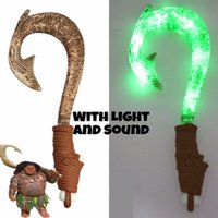 Wholesale Hot Toys Figures - Movie Moana Waialiki Maui Heihei ABS weapons light sound saber fishing hook music Figures Moana Adventure Led Toy lightsaber Hot Free ship