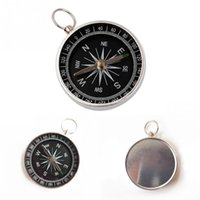 Wholesale Pocket Compass Aluminum - Wholesale-Pocket Mini Camping Hiking Compasses Lightweight Aluminum Outdoor Travel Compass Navigation Wild Survival Tool Black