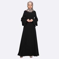 imagens de muslim women clothing venda por atacado-10 PCS Abaya Roupas Turquia Árabe Vestuário turco robe Mulheres Muçulmanas Maxi Vestido Fotos Islâmico Dubai Kaftan Vestido Longo giyim Roupas