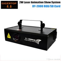 Wholesale 2W RGB Full Color Animation Laser Light With SD Card Professional Laser Light Hi Quality V V With Sound DMX512 Laser Light