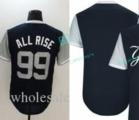 Wholesale Gary Mix - Mens 99 Aaron Judge All Rise New York Yankees Jersey 2017 Players Weekend Blank 24 Gary Sanchez Kraken Baseball Jerseys Cheap Mix Order