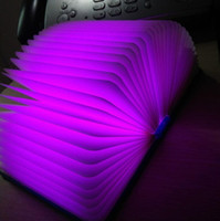 Wholesale Wedding Charge Invitation Card - Hot selling Led Book Five colors book lamp Small night light USB charging LED folding book light Colorful reading lamp DHL free