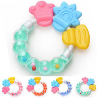 Wholesale infant kids toys - Wholesale- 2017 new baby Infant Teething Circle Ring Baby Rattles Biting Toy Kid Cute Toy Baby Teether