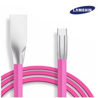 Wholesale Rose Connector - USB Cable Fast Charger Zinc Alloy Metal Connector Pure Copper 1M 3FT 2A Wire Data Cable for Type-C Android 2in1 with Package