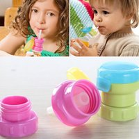 Wholesale Feed Caps - Children Portable Spill Proof Juice Soda Water Bottle Twist Cover Cap With Straw Drink Straw Sippy Cap Feeding for Kids OOA2770