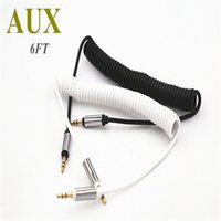 Wholesale Orange Audio Jack - Car Audio AUX Extension Cables 3FT 1M Wire Auxiliary Cables Male To Male 3.5mm Jack Stereo For Mobile Phones Computer Speaker