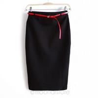 Wholesale Knee Length Mermaid Skirt - summer autumn 2017 Hot Sale OL Women Slim Fitted Knee Length Pencil Skirt Candy Color High Waist Straight Multi-color fashion skirt