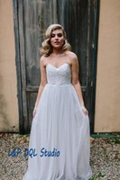 Wholesale Lace Tiered Bolero - 2 Pieces Wedding Dresses Pleats Tulle with Lace Garden Style Bridal Gowns Fairy Wedding Dresses with Lace Bolero High Quality Wedding Gowns