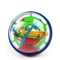 Wholesale Magic Steps - Wholesale- Parent-child interaction 100 Steps Puzzle ball Small Educational Magic Intellect Marble Puzzle Game perplexus magnetic balls