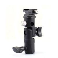 Wholesale Camera Flash Mounting Brackets - Wholesale-Professional Universal E Type Camera Flash Speedlite Mount Swivel Light Stand Bracket Umbrella Shoe Holder $ Standard Shoe Mount