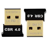 Wholesale Usb Adapter Australia - USB Bluetooth Adapter V4.0 Dual Mode Wireless Dongle Free Driver USB2.0 3.0 20m 3Mbps for Windows 7 8 10 XP Vista