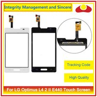 """Wholesale Optimus L4 - High Quality 3.8"""" For LG Optimus L4 2 II E440 Dual E445 Touch Screen Digitizer Outer Glass Lens Panel"""