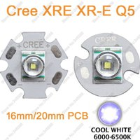 Wholesale Cree Q5 Led Emitter - Wholesale- 5pcs lot! CREE XLamp XRE XR-E Q5 3W Cool White High Power LED Lighting Emitter Bead on 16mm 20mm PCB