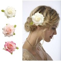 Wholesale Corsage Photos - Tourism photo tire simulation rose a corsage headdress flower fashion wedding in Europe and the bride hair clip