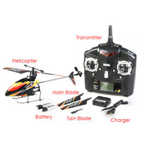 Wholesale Helicopter Radio Single - WLtoys V911 2.4G 4CH Single Blade Propellor Gyro Mini Radio Remote Control Line RC Helicopter
