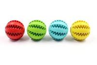 ingrosso cibi denti puliti-New Pet Dog Toy Palla di gomma giocattolo Funning Light Green ABS Pet giocattoli palla cane masticazione giocattoli Denti di pulizia palle di cibo 4.8 cm