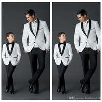 Wholesale Wool Shawl For Wedding Dress - Custom Made 2017 New Fashion Groom Tuxedos Men's Wedding Dress Prom Suits Father And Boy Tuxedos (Jacket+Pants+Bow) Formal Wear For Men Boys