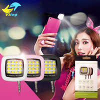 Wholesale 16 Led Flash - Portable Smartphone Phone Selfie for iPhone 6 Plus Mini 16 Leds LED Flash Fill Light For iPhone IOS Android Smartphone