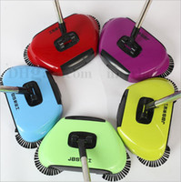 Wholesale Dust Mop Cleaning - Super Cordless Swivel Brush Smart Floor Cleaner Sweeper Rotating Hand-Push Dual Sweeper Manual Dust Cleaner 3 in1 Dustpan Broom Mop B1861