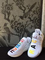 Wholesale Boxes Samples - NMD Pharrell Williams Human Race 'Birthday' mens Colorful Boost womens NMD Runner Running Shoes White Sample Ultra Boots with Box and Lacem