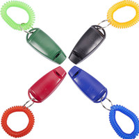 Ultrasonic sports products manufacturers - 2 in Dog training clicker whistle W Key ring Wrist strap colour blue black red green Manufacturers supply