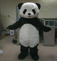 urso traje da mascote terno venda por atacado-Brand new big fat panda furry bear mascot costume for adult panda mascot terno para vender frete grátis