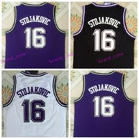 sports team uniform - Hottest Peja Stojakovic Jerseys Uniforms For Sport Fans Throwback Peja Stojakovic Shirt Rev New Material Team Away Purple Black White