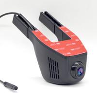 ingrosso logger nero-Più nuovo universale mini wifi auto dvr dual fotocamere full hd 1080 p dash cam registratore automatico registratore video due lenti scatola nera dvr