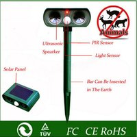 Wholesale Solar Powered Mouse Repeller - ABS Solar Power Ultrasonic Signals Animal Repeller Outdoor Bird Mouse Expeller Green 2016 Hot Sale New Gardent Product
