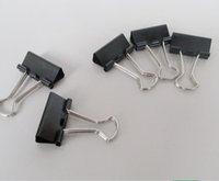Best Sale 12 pezzi Office Files Documenti Metal Nero Binder Clips 51mm Larghezza