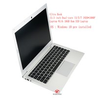 Wholesale 16gb Ssd - Wholesales 13.3 inch Dual-core I3 5 7 1920*1080P Laptop With 16GB Ram SSD Laptop free shipping