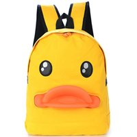 Wholesale 3d yellow bag for sale - Group buy 3D duck mouth backpack Yellow shape daypack Funny style schoolbag Animal rucksack Sport school bag Outdoor day pack