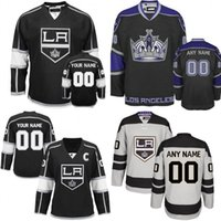 Wholesale Custom Embroidery Los Angeles - Custom Los Angeles Kings Jerseys Authentic personalized Cheap Hockey Jerseys Any Number & Name Embroidery Logos size S-3XL