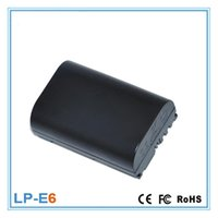 Wholesale Production Battery - The Latest Production 1800mAh LP-E6 Lipo Deep Cycle Charged Camera Battery For Canon EOS 5D Mark II III 6D 60D 7D 70D Pack