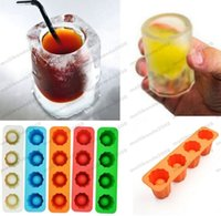 Wholesale Ice Mould Shot - 2017 Ice Cube Tray Mold Makes Shot Glasses Ice Mould Novelty Gifts Ice Tray Summer Drinking Shot Glass Mold MYY