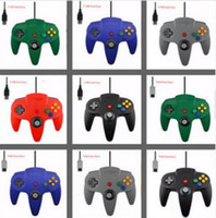 Wholesale Nintendo 64 Game Systems - New 5 color Long Handle Controller Pad Joystick Game System for Nintendo 64 N64 without Retail packaging DHL