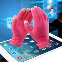Wholesale Colorful Cotton Gloves - Fingers Gloves Christmas Colorful Winter Warm Touch Gloves Cotton Capacitive Touch Screen Conductive Gloves Mix Color 600 PCS YYA249