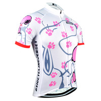 Wholesale women cycling jersey xl - BXIO Brand Cycling Jersey Women Short Sleeve Sport Jersey Summer Cool Snoopy Bike Clothing Pro Team Equipe De France BX-0209W021-J