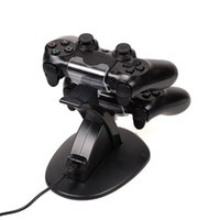Precio de Xbox dual-Dual Chargers Charger Dock Estación de pie para Sony PlayStation 4 PS4 PS 4 Game Gaming Wireless Controller Console