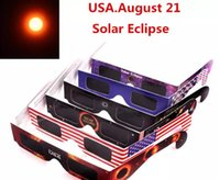 Wholesale Toy Eye Glasses - American Solar Eclipse Glasses Multicolor Paper Frame Viewer Safe Glasses Protect Eyes to See Solar Eclipse