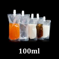Wholesale Spout Pouch Wholesale - 100ml clear plastic food grade packaging doypack stand up spout drink juice packaging pouch bag