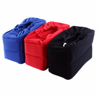 Wholesale Dslr Camera Bag Inserts - 3 Colors Universal Insert Partition Padded Camera Bag Shockproof Sleeve Cover for DSLR Camera Free Shipping