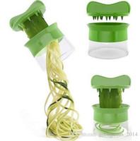 Wholesale Healthy Hands - Handheld Vegetable Spiralizer Spaghetti Pasta Alternative Healthy Hand Held Spiralizer Noodles Zucchini Spaghetti Pasta Maker b657