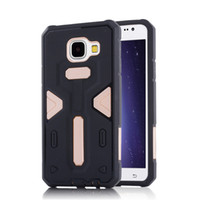 TPU black body absorption - Hybrid Armor Protective Case Cover for Samsung Galaxy A5 A7 A8 A310 A510 A710 Dual Layer Shock Absorption Full Body Shell